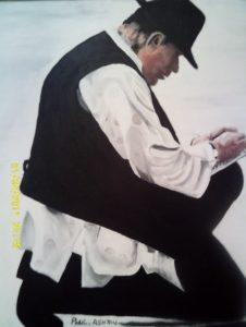 SELF PORTRAIT ARTIST AT WORK by Paul Ashton