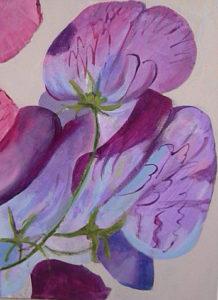Detail of Sweetpeas by Ann Appleby