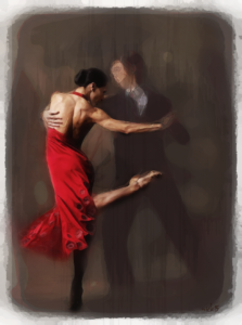 Tango Dancer with an emphasis on the woman by Holy Carrot