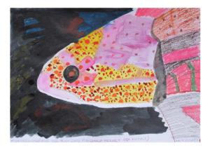 Red Lord fish by Tanya Roshanzamir