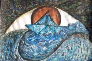Teardrop Paper Boat by Waltraud Pospischil