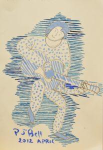 Busker Man by Philip John Bell