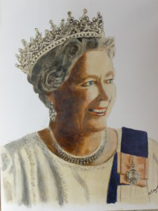 The Queen by After Japanese Print
