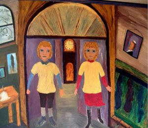 The Twins at Sancreed School by Hannah Light