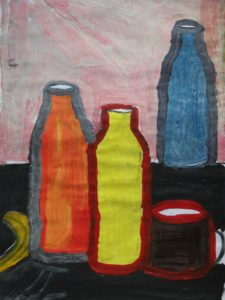 Three Bottles and Cup by Jenny Lewis