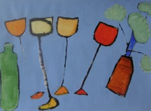 Wine Glasses by Tina Kelly