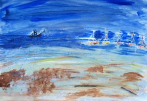 Moored Yachts by Tom Paine
