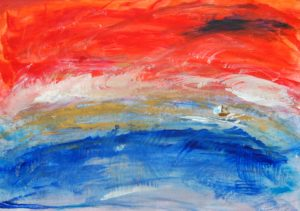 Boat in Sunset by Tom Paine