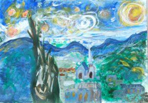 Starry Night – Van Gogh intrepretation c. June 1889 by Tom Paine