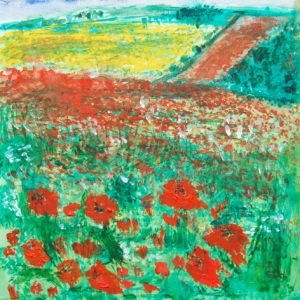 Poppies and Rapefield by Tom Paine