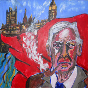 Labour MP Tony Benn by John Pipere