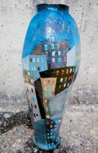 Tower Block (vase) by Stephen Mundy