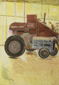 Tractor and Harvestor by Robert McCamley