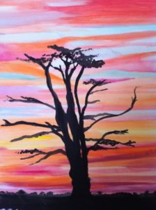 African sunset by Ruth Brown