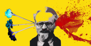 Trotsky with Flowers by Dolly Sen