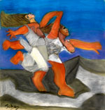Two Women Running (after Picasso) by Jacqueline Burton