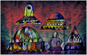 UFOs landing at 3 am last night by Otto Magus