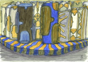 untitled_blue_and_yellow by Lillian D French