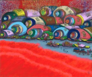 untitled_red_and_circles by Lillian D French