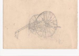 Vintage hay baler by blodwyn jones