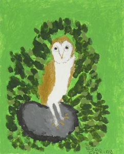 Still Life (Owl) by Still Life on Yellow Paper