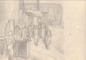waiting for the bus by blodwyn jones