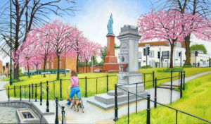 spring blossom esher by john a walker