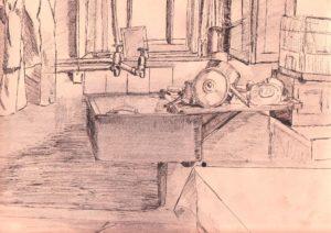 Pots and pans drying by blodwyn jones