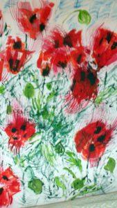 poppies in the wind by blodwyn jones