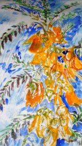 Yellow flowers by blodwyn jones