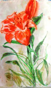 Lillies by blodwyn jones
