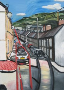 Welsh Valley Street by Linda Wallis