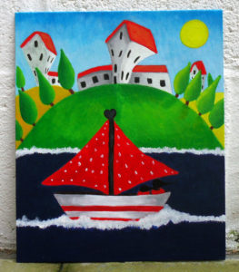Sail Away by Whimsical landscape