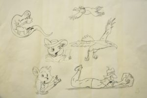 Cartoon Characters Two by Untitled
