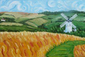Windy Patcham Windmill by CurcioArt