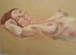 Reclining Nude by Moira Taylor