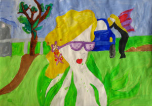 Woman in Sunglasses & Angel by Donna Donnelly