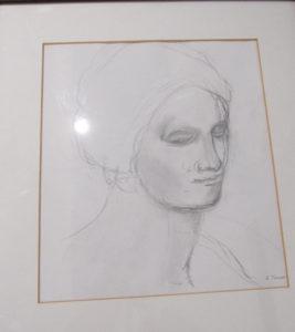Sketch of a woman by Joy Turner