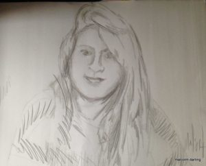 Working sketch of my daughter by Malcolm Darling