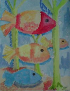 Four fish by M.A.
