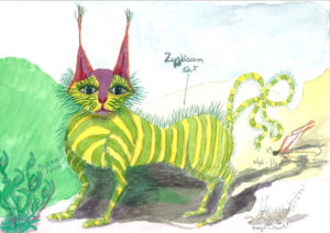 Zyzlicorn Cat by Lillian D French