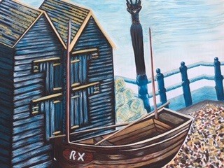 Fishing Huts by Danielle Hammond
