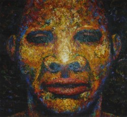 Painting of a male face