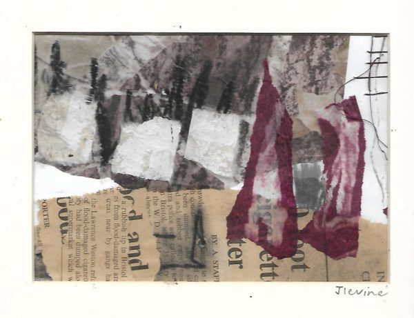 Mixed media collage 33 by jess levine