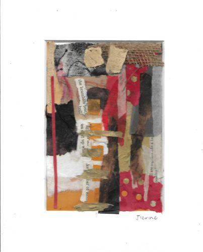 Mixed media collage 34 by jess levine