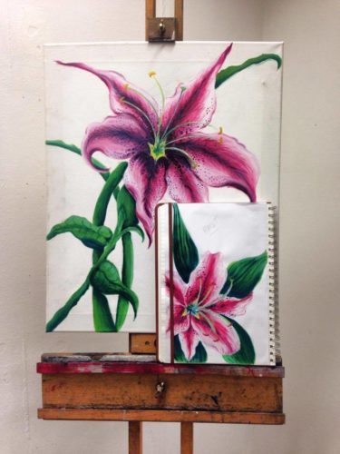 Observational Lily Study 2015 by cherise woods