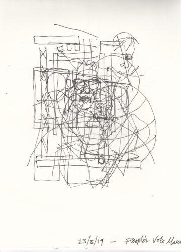 TV drawing No.3 by Beth Hopkins