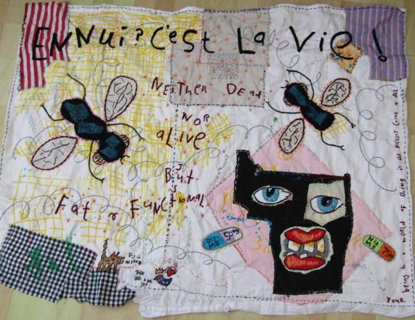 There-is-Money-in-Misery-110cm-x-90cm-hand-embroidered-textile-collage-2018.jpg by Anthony Stevens