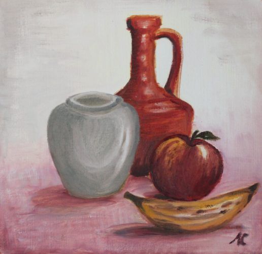 Still life with fruit by Alison Cale
