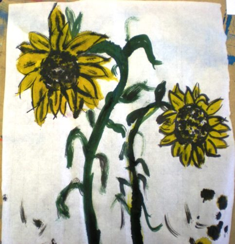 not so sunny sunflowers by John Nugent